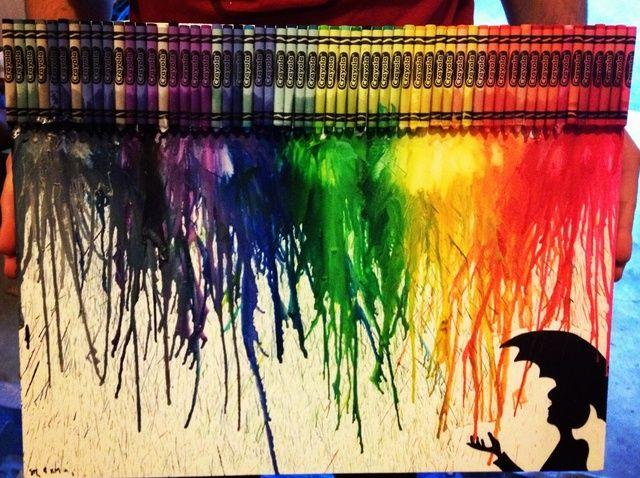 Cómo hacer un Crayon Lienzo