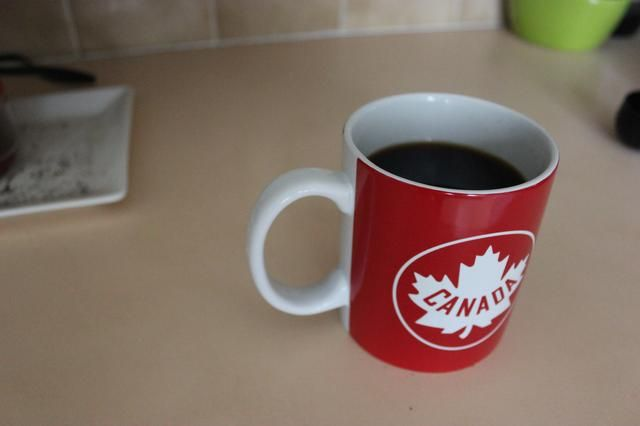 Taza de café completo. Ahora, para lavar el Aeropress antes de beber su delicioso café.