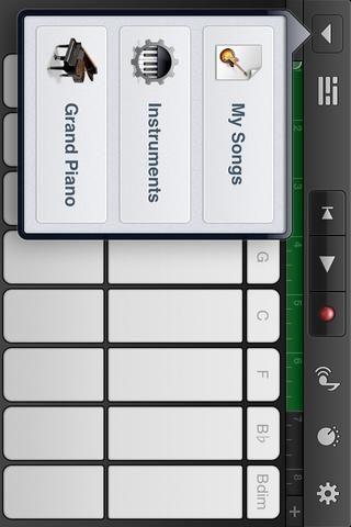 Ahora podemos convertir esta sintonizar con un tono de llamada. Toque el GRIS flecha abajo en la parte superior derecha de la pantalla. Toque MIS CANCIONES para volver a la pantalla principal.