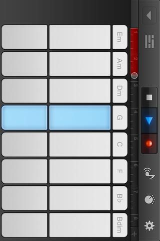 Ahora grabar. Con todavía seleccionan las notas, pulse el botón rojo (Ganó't blow up). Your tune will be recorded to the track (the red bar at the top is what is recorded). Tap the GREY SQUARE to STOP.
