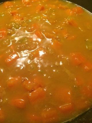 Hervir hasta que las verduras estén suaves y tiernas