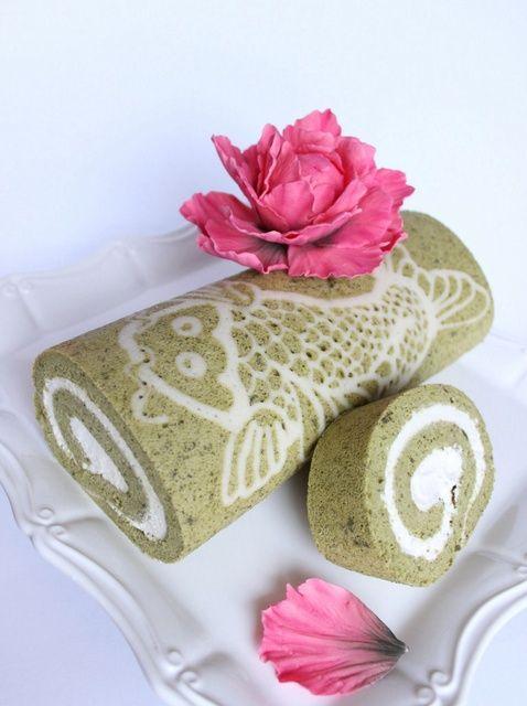 Cómo hacer un decorado Matcha (té verde) Receta torta del rodillo