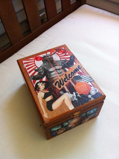 Cómo hacer una caja del tesoro Decoupage