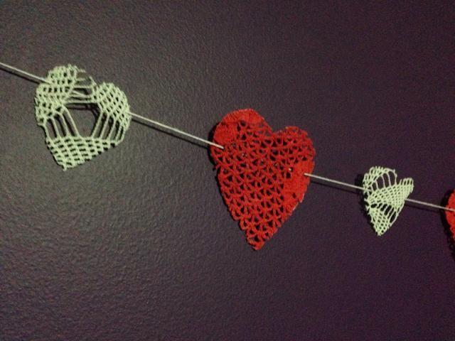 Valentines guirnalda día.