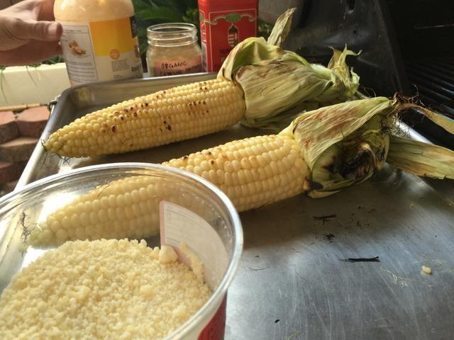 Esta es tu preparación. Mayonesa, pimentón, pimienta de cayena, queso parmesano rallado. Asegúrese de tener todo y listo para funcionar.