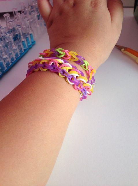 Cómo hacer un diamante Rainbow Loom pulsera
