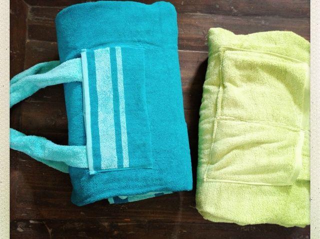 Cómo hacer un DIY Convertible Bolsa de playa - Manta