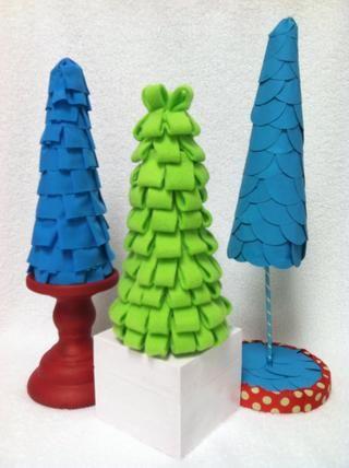Echa un vistazo a mis SnapGuides a aprender a hacer los mismos árboles utilizando fieltro o papel!