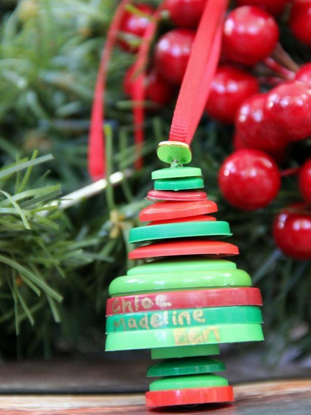 Fotografía - ¿Cómo hacer un adorno de Navidad árbol genealógico con los botones