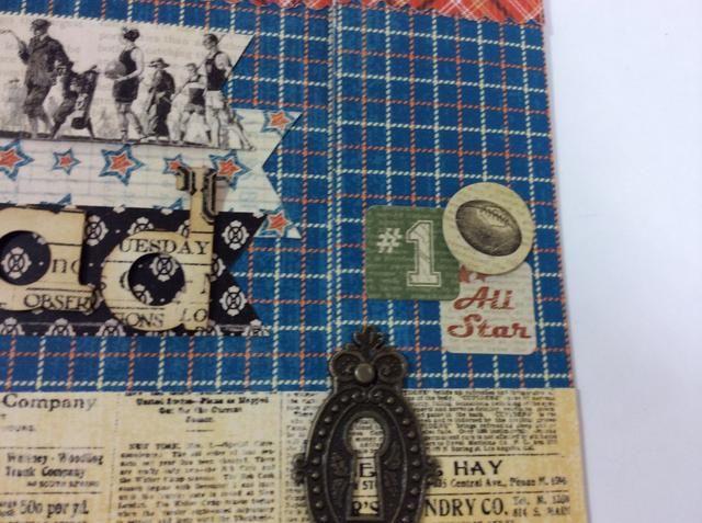 Adherirse un pequeño collage de pegatinas en el lado derecho de la tarjeta.