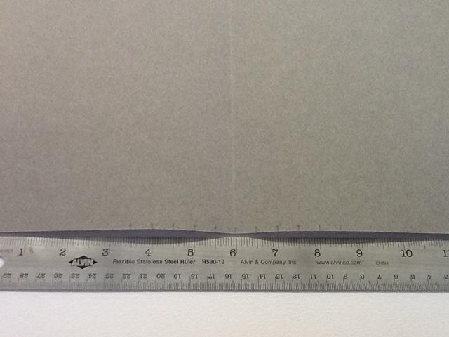 Mida lo largo de la parte superior e inferior, a partir de su rebaño y salir. Solía incrementos de 1.2 pulgadas, pero se puede utilizar cualquier medida que desea.