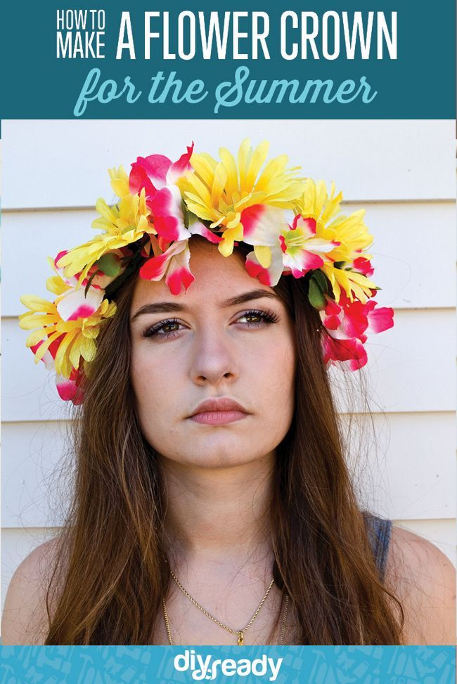 Echa un vistazo a Cómo hacer una corona de flores | Bastante vendas de la flor al http://artesaniasdebricolaje.ru/how-to-make-a-flower-crown-pretty-flower-headbands/