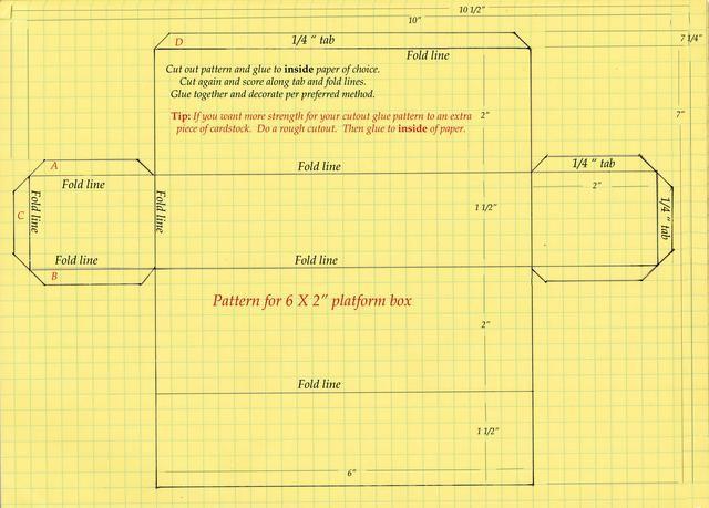 Aquí están las dimensiones y modelo que elaboró para el cuadro de plataforma. 6x2x1 pulgadas.