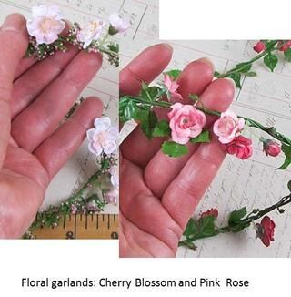 Oferta - Rose Rosa y flor de cerezo guirnaldas - disponible en Sellos Alpha
