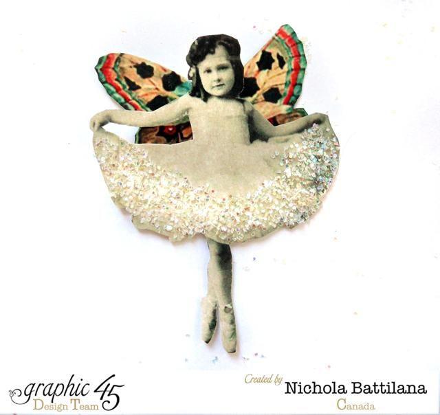 Imprima y corte quisquilloso una imagen bonita del vintage, añada alas y brillo. Para las imágenes, thegraphicsfairy.com es un gran recurso.