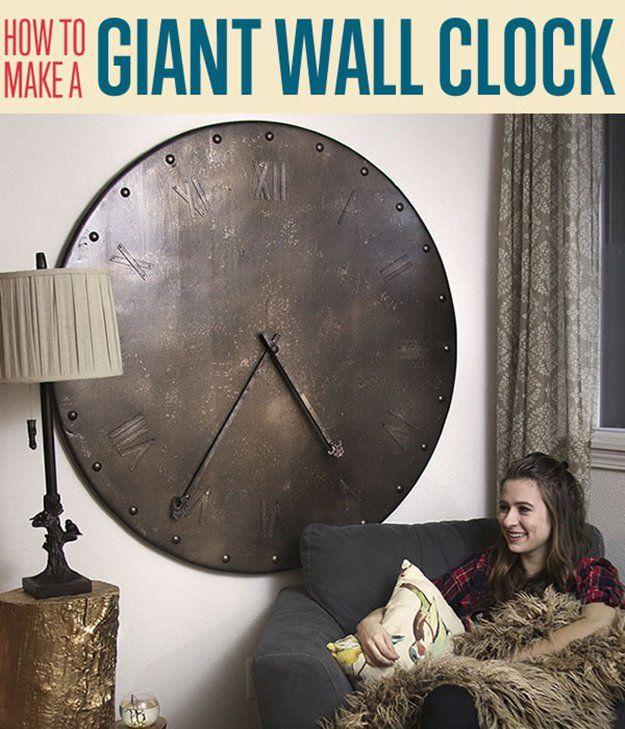 Fotografía - Cómo hacer un reloj de pared gigante | Decorativo reloj de pared