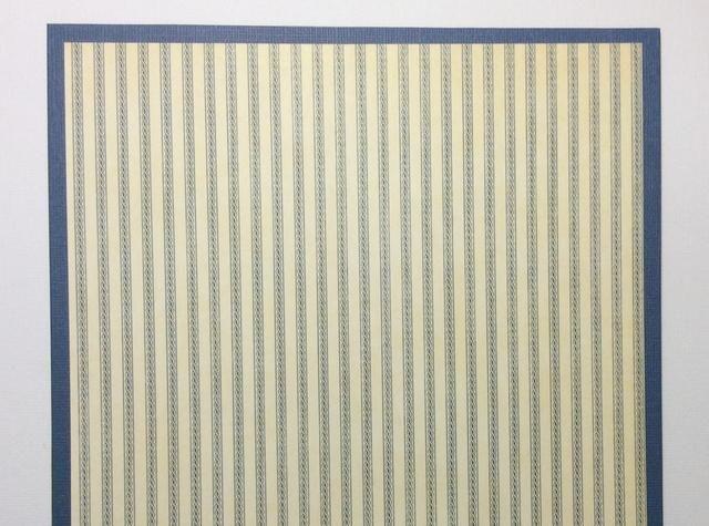 Patrón de papel cortado a las 7 3/4 x 7 3/4 cuadrado (hoja de 12 x 12 pulgadas se utiliza). Adherirse centralmente a la tarjeta chip de cartulina cubierta.