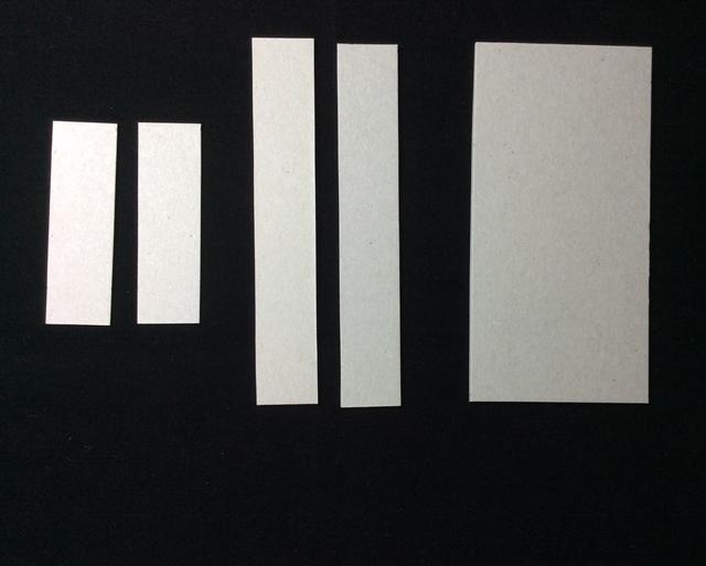 TAPA: Corte dos pesado aglomerado en 6x1 y uno en 6x3 pulgadas. Corte dos medio aglomerado a los 3 1/4 x 1 pulgadas.