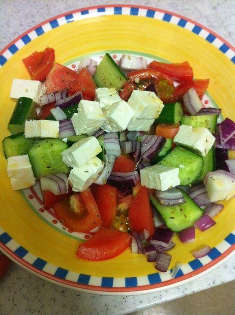 Cómo hacer una ensalada Receta griega