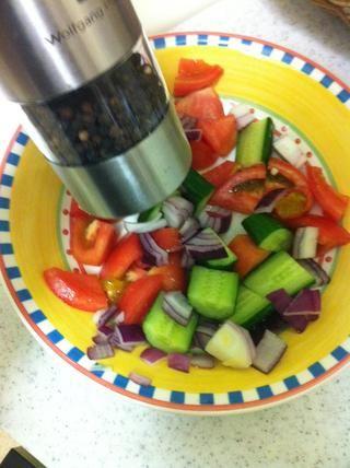 Agregar la pimienta