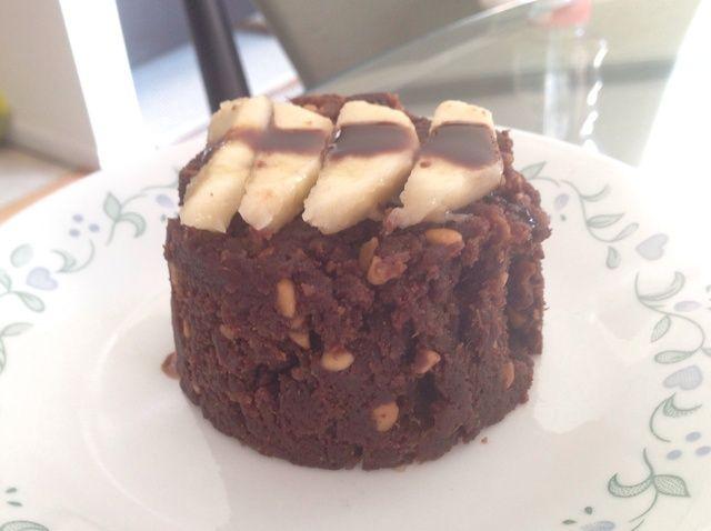 Cómo hacer un saludable 2 Min plátano Brownie en una receta de microondas
