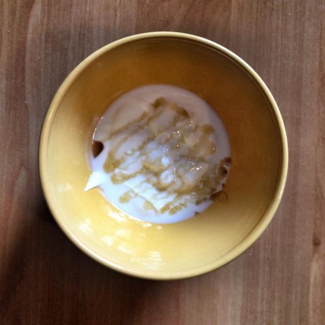 El yogur y miel