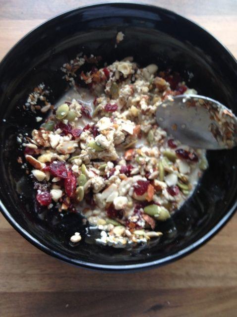 Cómo hacer un Avena Saludable / granola yogur para el desayuno Receta