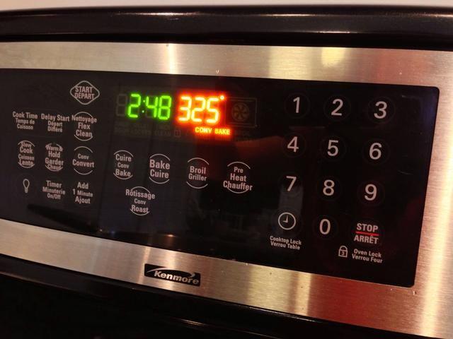 Precaliente el horno a 325F (160C).