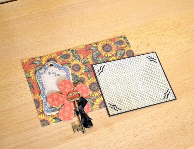 Celular 7. Haz un fondo para la foto y decorar esta celda. Utilice aglomerado. clave, la cinta y flores