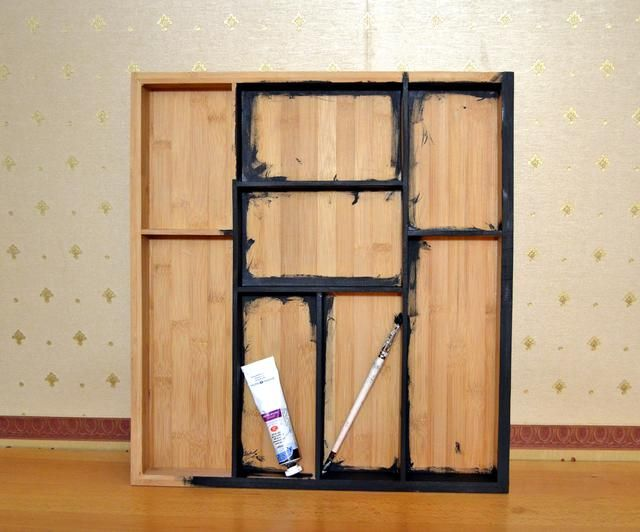 Pintura con base de pintura acrílica negro, no se puede pintar el interior