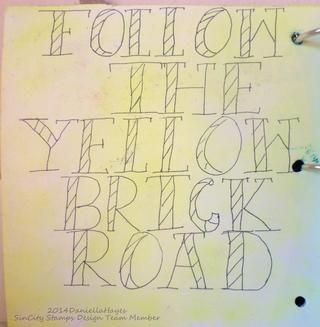 Coloreé el papel con amarillo Pan Pastel y escribí