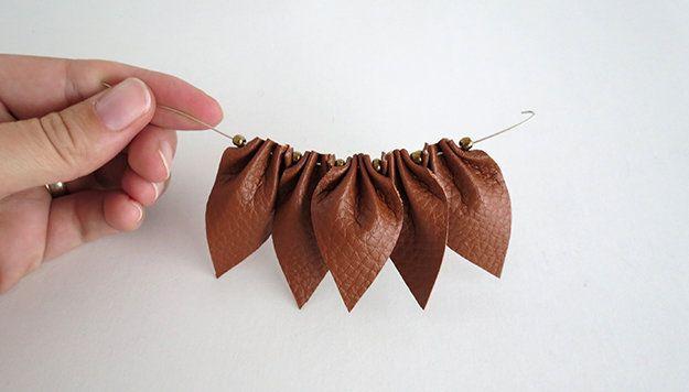 collar de bricolaje, cómo hacer un collar, cómo hacer collares, collar de cuero, joyería de DIY, joyería hecha a mano, joyería hecha en casa, cómo hacer la joyería, fabricación de joyas, joyería que hace ideas
