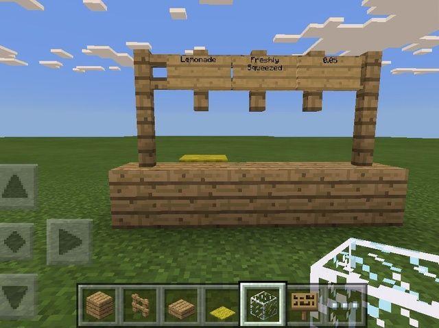 Cómo hacer un puesto de limonada en Minecraft