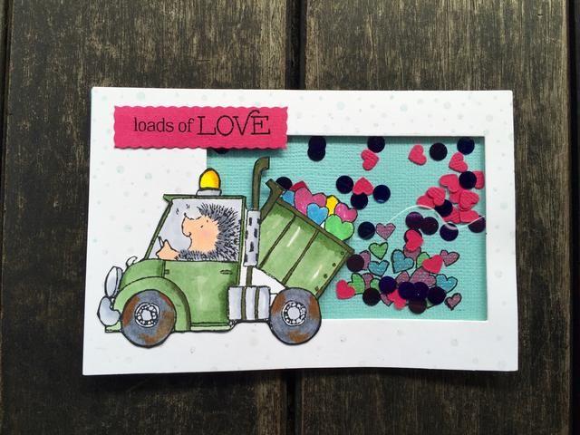 La última carta! Me gusta el efecto de la camioneta derramando toneladas de amor!