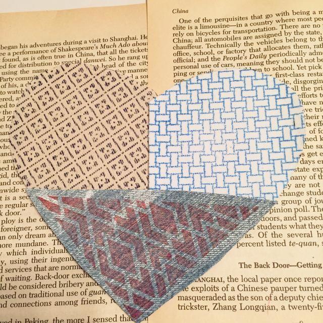 cortar piezas del patrón y se echó en los corazones de aglomerado para comprobar el espaciado.