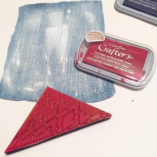 uso Diamantes 2 estampillas y tinta usando Cañón tinta.
