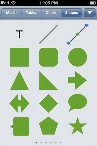 Pulse el azul + y luego puntee en la ficha FORMAS. Estoy eligiendo el cuadrado redondeado.