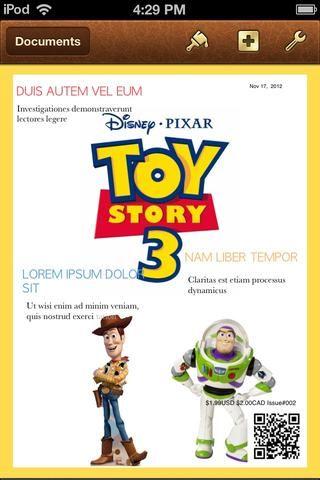 Echa un vistazo a esta revista Toy Story ® hice en unos 3 minutos. (Exención de responsabilidad: Juguete Story® es propiedad exclusiva de DISNEY'S PIXAR STUDIOS)