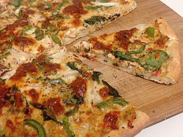 Cómo hacer una receta mediterránea pizza