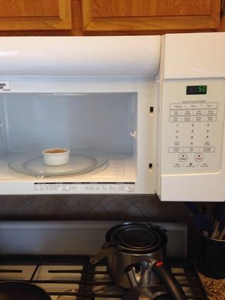 Entonces el microondas 40-60 segundos. Mi microondas cocina perfectamente a los 50 segundos, pero puede variar entre las microondas.