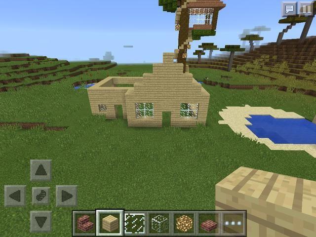 En este el que acabo de hacer las paredes y una cosa de la escalera de madera