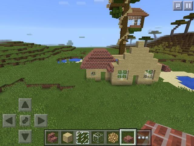 Hacer que el techo de la más pequeña y luego nivelar la parte superior de la misma con losas
