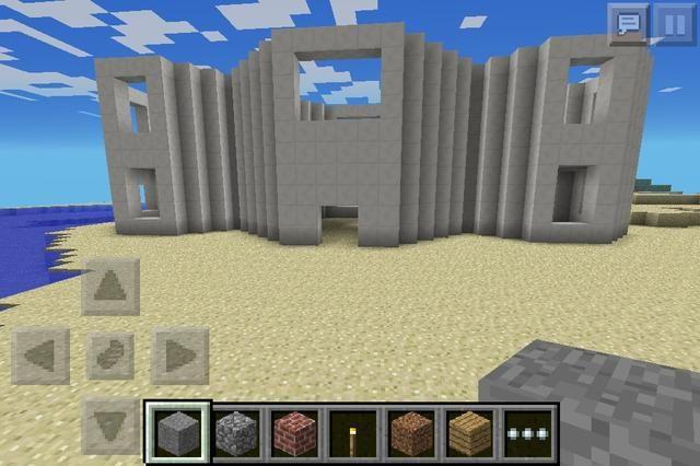 Ahora lo convierten en dos plantas con cinco cuadras de alta y añadir agujero para ventanas