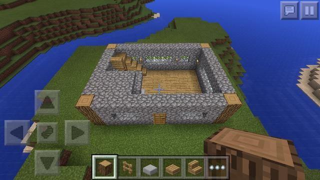 Cuarta capa de construir la piedra del adoquín de hasta 1 hacer una cubierta para la tabla de elaboración y hornos y construir más escaleras