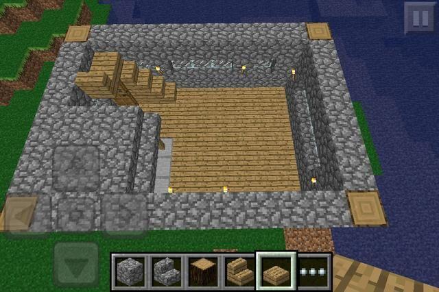Capa 4rth Construya la pared, escalera y añadir una capucha para los hornos