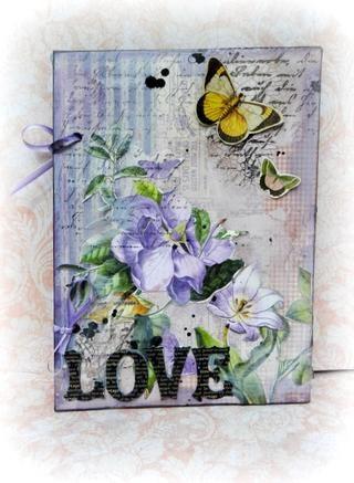 Sello algunos lugares y terminar con butterflyes. Aquí es la tarjeta que se puede utilizar para San Valentín's day.