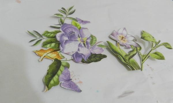 Cortar algunas flores de G45 pueda florecer 12x12.