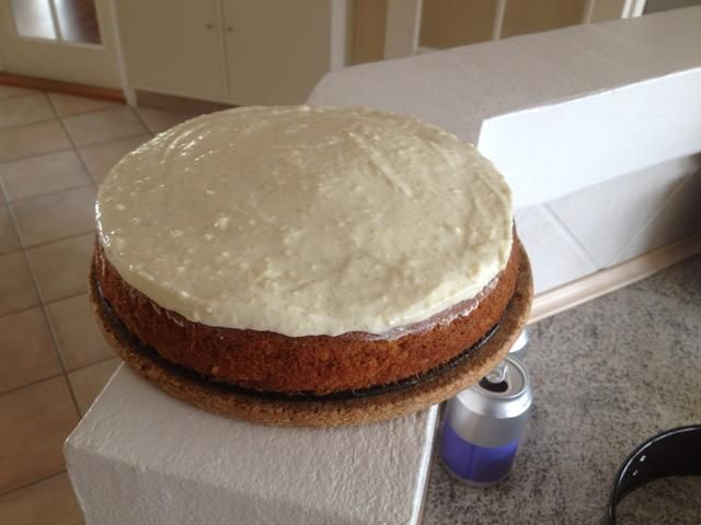 Debe ser algo como esto, cuando se ha añadido al relleno de la torta.
