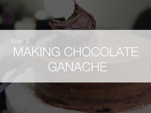 Nosotros vamos a usar ganache de chocolate como la formación de hielo.