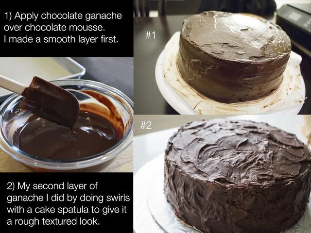 Guinda del pastel: Hay tantas maneras de Hielo un pastel con ganache. Usted puede verter sobre el pastel en un